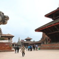 "Bahktapur Durbar square • <a style=""font-size:0.8em;"" href=""http://www.flickr.com/photos/22252278@N05/21640618791/"" target=""_blank"">View on Flickr</a>"