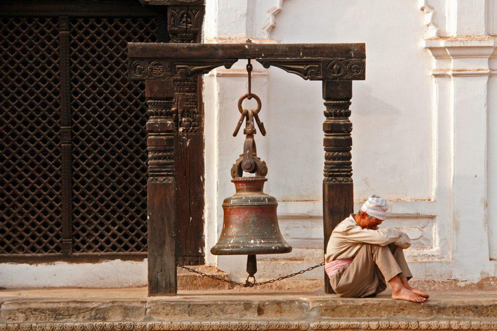 Sleeping man in Bhaktapur