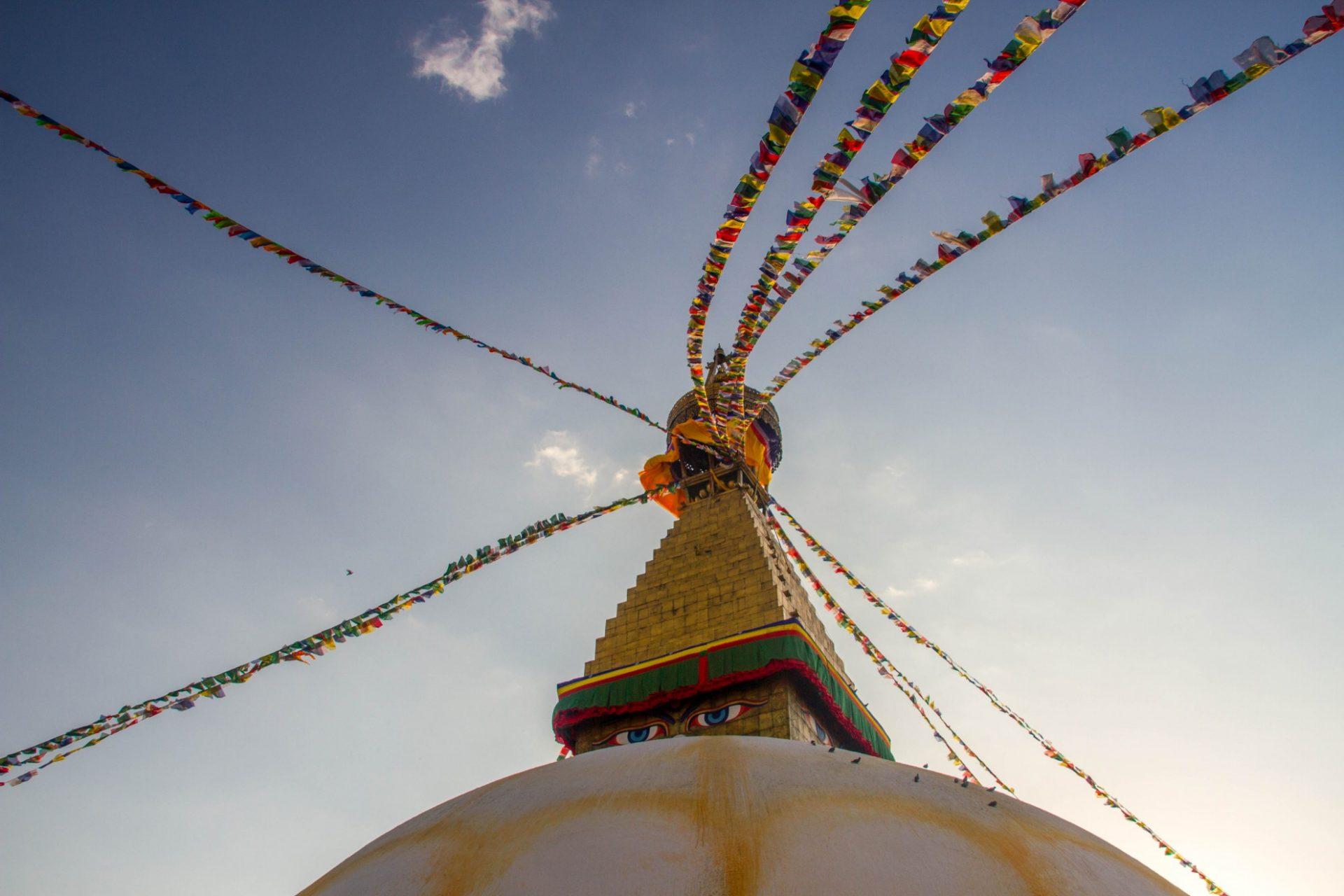 Stupa de Bodnath, soleil couchant