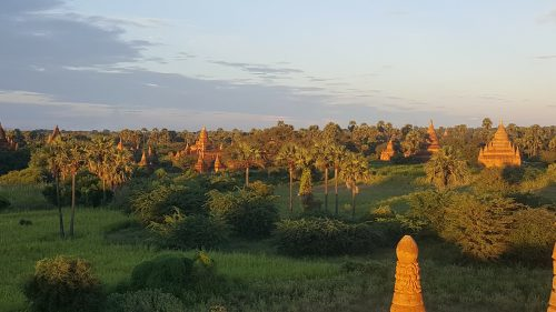 Bagan, sunset, Myanmar, Birmanie