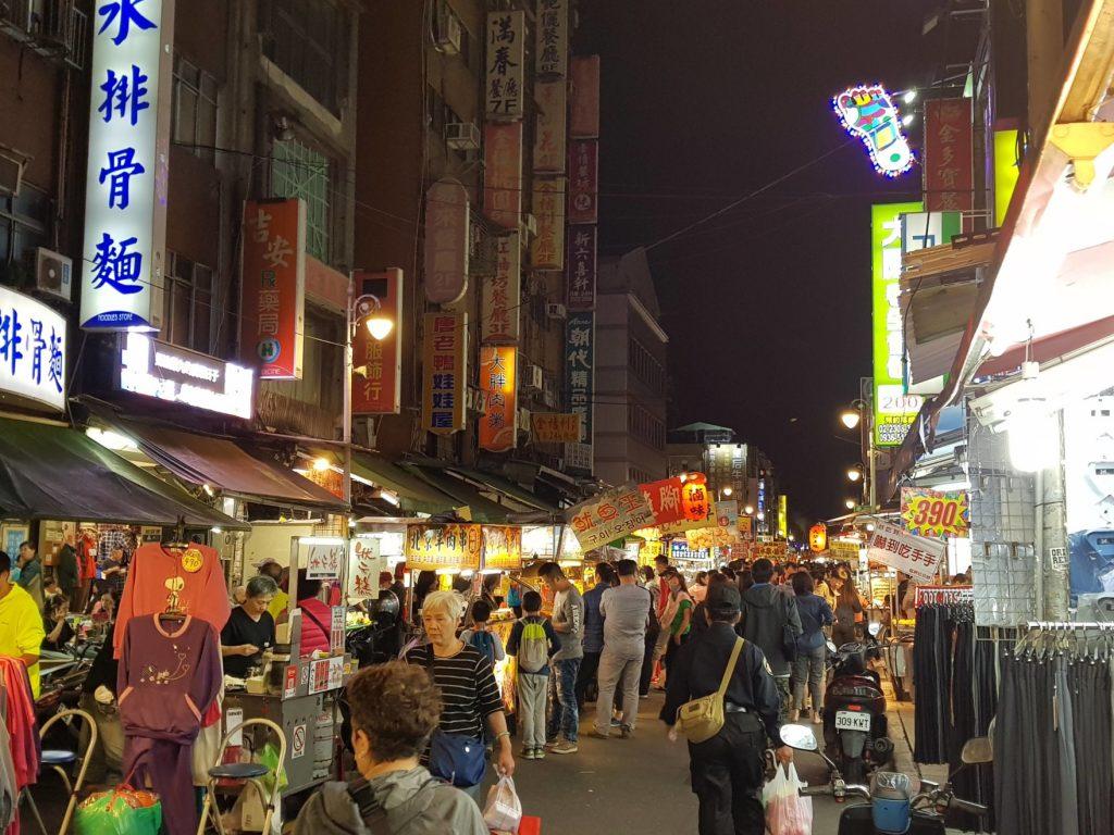 Night market à Taiwan